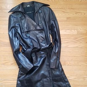 Mackage Leather Trench